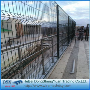 3d Bending Welded Wire Mesh Fence With Post
