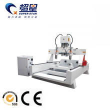 China for Cnc Lathe Machine Wood machine multi heads rotary 3d carving export to Macedonia Manufacturers