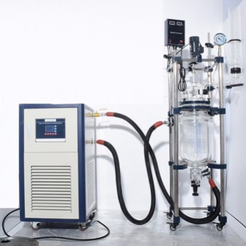 20 liters laboratory jacket heating glass reactor