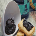 Black garlic paste made with pure black garlic