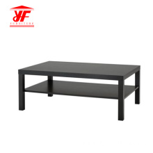 Cheapest Factory for Small Coffee Tables Hollowcore Black Simple Design Coffee Table export to India Manufacturer
