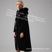 Reversible Women Australia Merino Shearling Coat Long