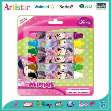 DISNEY MINNIE MOUSE 6 Double-sided crayons