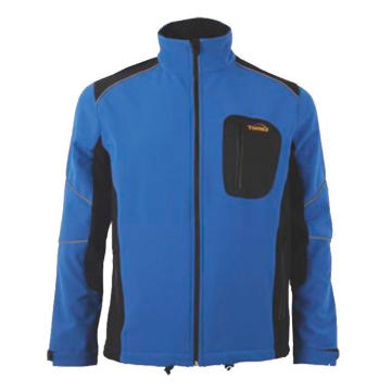 Blue with black Softshell Jacket