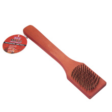 Wooden handle bbq cleaning brush
