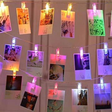 Fête d'anniversaire Photo Clip String Fairy Lights