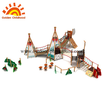 Playground slide and swing set sections