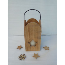 High Quality for Wooden Tea Light Candle Holder Natural Solid Wood  Candle Holder export to Reunion Factory