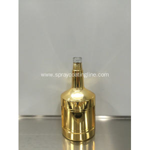 Plating metalizing glass bottle