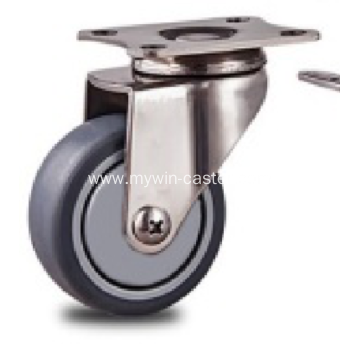 1.5 inch Stainless steel bracket flat  casters without brakes