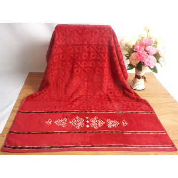 One of Hottest for Egyptian Cotton Bath Towels Yarn Dyed Patterned Red Bath Towels export to Indonesia Supplier