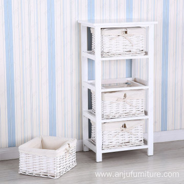 White 4 Maize Drawer Storage Unit Wooden cabinet 4 Maize Drawer Storage Unit Wood Bathroom/Bedroom Storage Cabinet, White