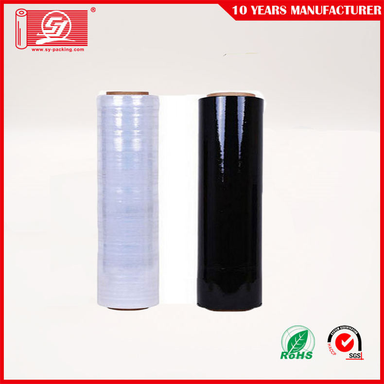 Black 17/20mic LLDPE Stretch Film For Shrink Wrap