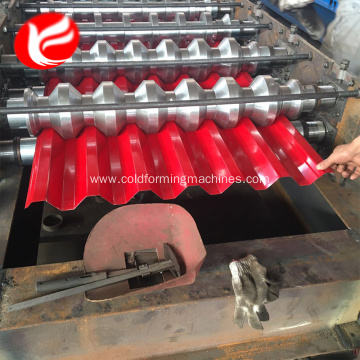 Fully automatic steel roof panel roll forming machine
