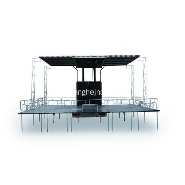 Three Sides Opening Mobile Stage Truck