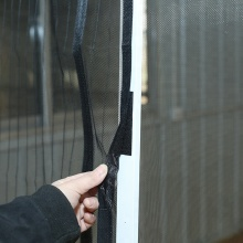 Magnetic soft yarn screen door anti-mosquito curtain