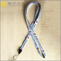 Souvenir silk screen printing lanyard for school