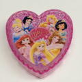 Plastic Disney heart shaped storage box