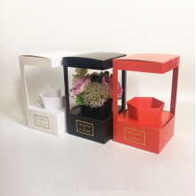 10 Years for Flower Box Foldable paper flower delivery boxes for sale supply to Virgin Islands (U.S.) Factory