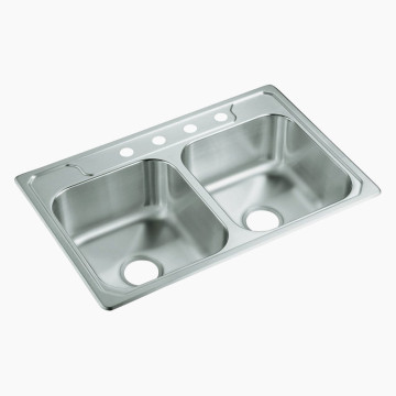 Stainless Steel Square Double Sink