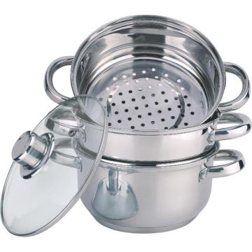Economic 4pcs stainless steel steamer