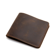 Low MOQ for Genuine Leather Wallets Mens RFID Blocking Bifold Slim Minimalist Pocket Wallet export to Solomon Islands Factory