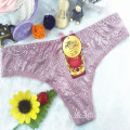 OEM wholesale t-back yarn sexy spandex elastic lace underwear thong 5830