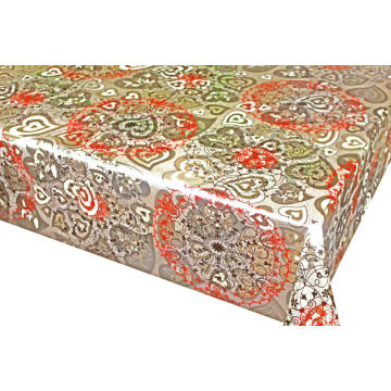Double Face Emboss printed Gold Silver Tablecloth Cheap