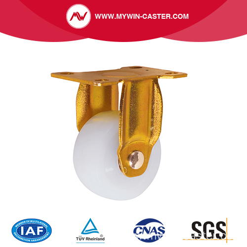 Fixed Top Plate Nylon Wheel Industrial Caster