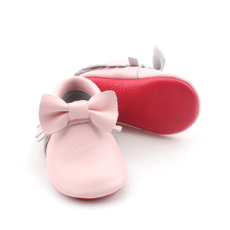 Leather Pink Baby Moccasins Baby Boots