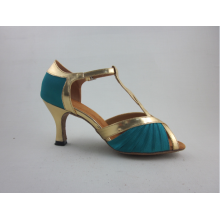 Factory Cheap price for Ladies Latin Shoes Girls blue satin latin shoes export to Saint Vincent and the Grenadines Importers