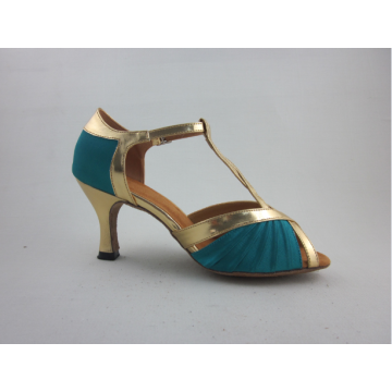 Hot Sale for Girls Ballroom Shoes Girls blue satin latin shoes supply to Brunei Darussalam Supplier
