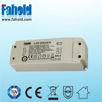 45W 0-10V Dimmable levou driver para Downlights