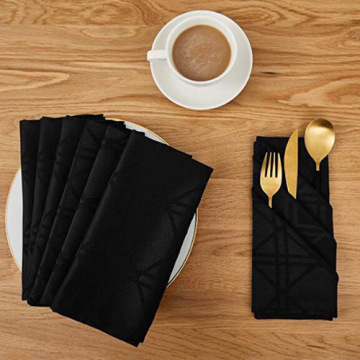 Short Lead Time for Napkins For Dinner,Cotton Napkins,Damask Napkins Manufacturers and Suppliers in China Black Damask Waterproof Dinner Cloth supply to France Manufacturer