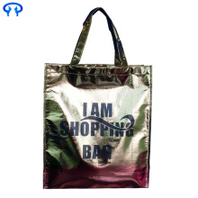 Good Quality for Laminated Non Woven Tote Bags Green hand covered non woven bags export to Equatorial Guinea Manufacturer