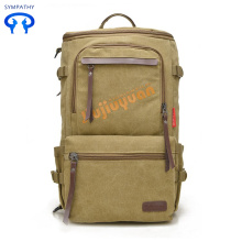 Rucksack with a bulky shoulder bag