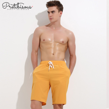 Plus size long swim shorts for men