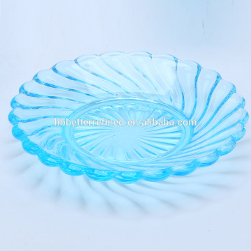 Hand Made Geo Blue Color Mini Dessert Plate