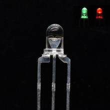 3mm Bi-color LED Red&Green LED Clear-Lens Common Cathode