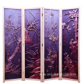 Customized banquet hall folding room dividers partitions of solid wood screens