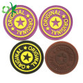 Brand Name Logo Silicone Button Badges for Clothes