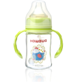 Baby safety glass milk feeding bottle 150ml