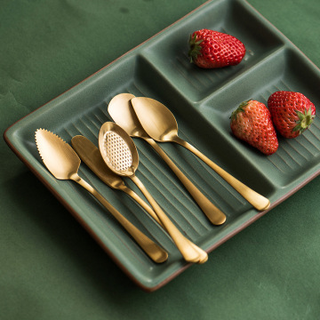 Gold Dessert  Stainless  Spoon Set
