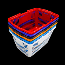 Small plastic handle shopping basket wholesale