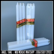 50gram White Pillar Candle Strong Cellophane Packing