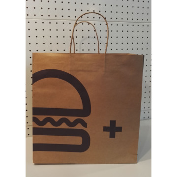 20 Years Factory for Twist Handle Brown Paper Bag Brown Kraft Snack bag with twisted handle export to Hungary Supplier