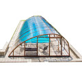 Enclosure Swimming Pool Inground Retractable Glass Roof