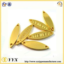 2016 metal tags engraved letter logo