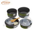 1SET Portable Folding Camping Cookware Mess Kit