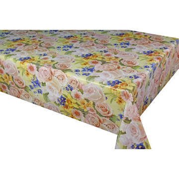 Pvc Printed fitted table covers Snowflake Table Runner